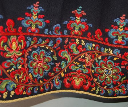 Folkcostumeembroidery Bunad And Rosemaling Embroidery Of
