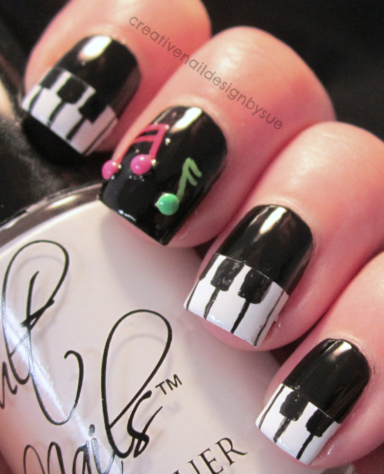 Digital Dozen Does It Again-Music - Creative Nail Design By Sue: Digital Dozen Does It Again-Music