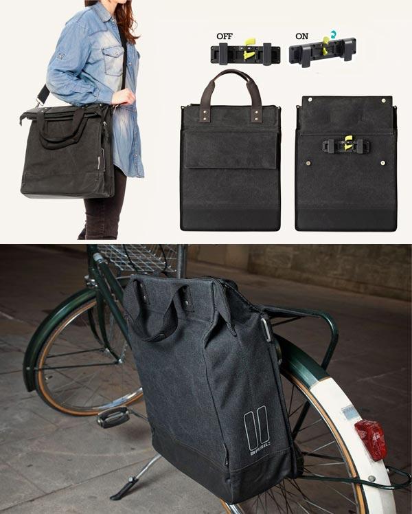 Complementos para cargar en bicicleta: Bolso y Alforja Fold Cross