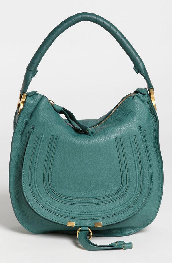 so fab bags: Chlo¨¦ \u0026#39;Marcie - Medium\u0026#39; Leather Emerald Hobo