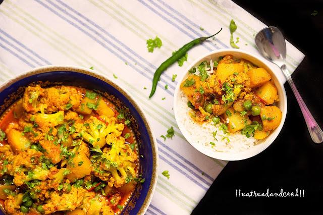 bengali aloo phulokopir jhol recipe