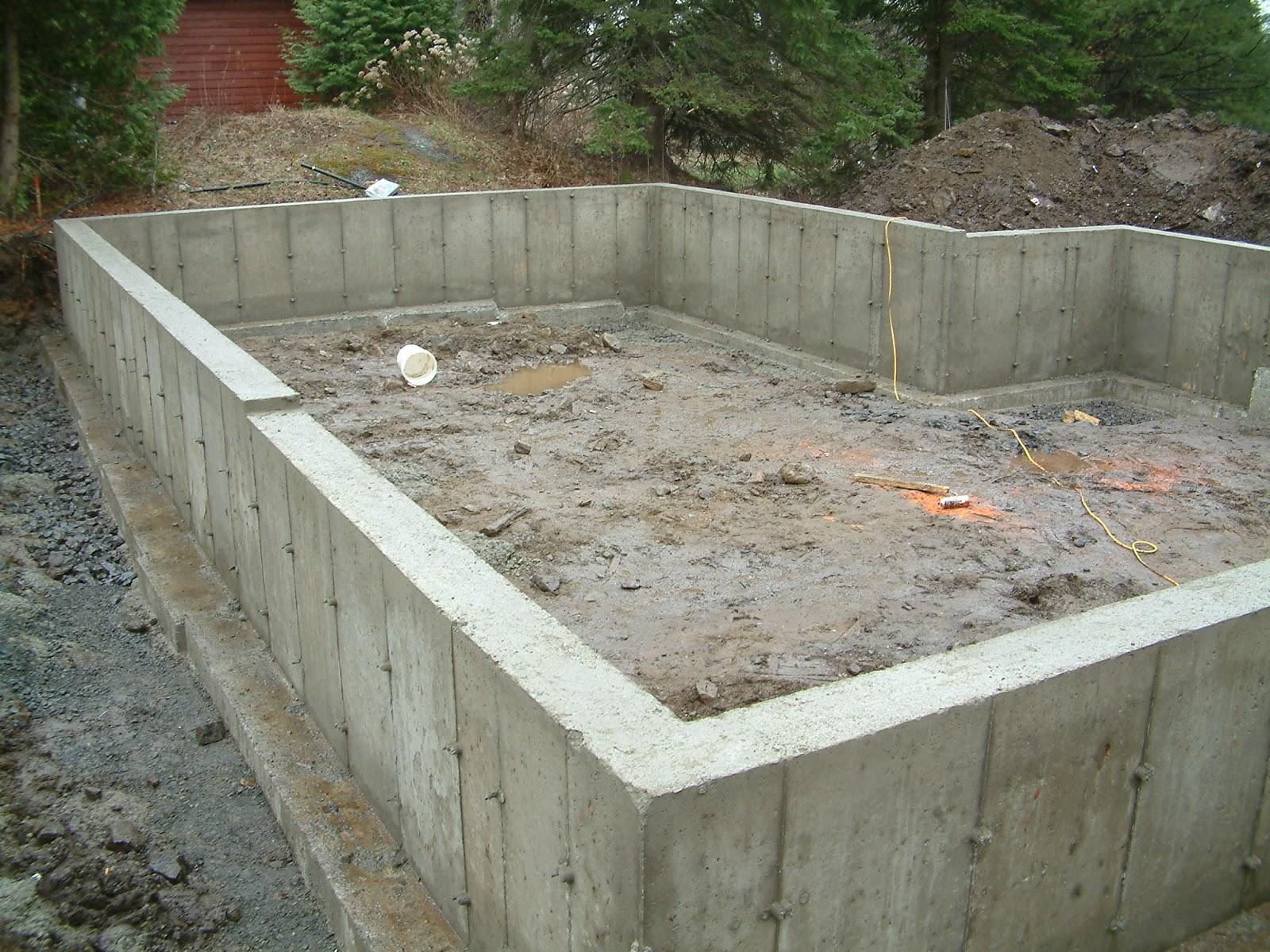 le projet timber frame de c line et pierre timberframe project le muret de fondation est. Black Bedroom Furniture Sets. Home Design Ideas