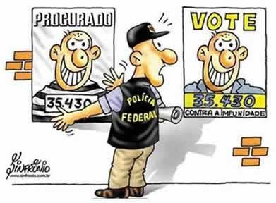Não vote em acusados e suspeitos