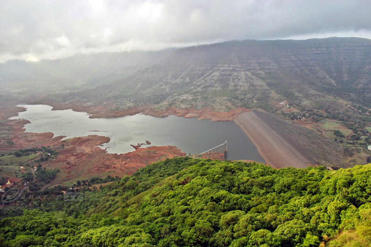 Balakwadi Dam as seen from Kates point