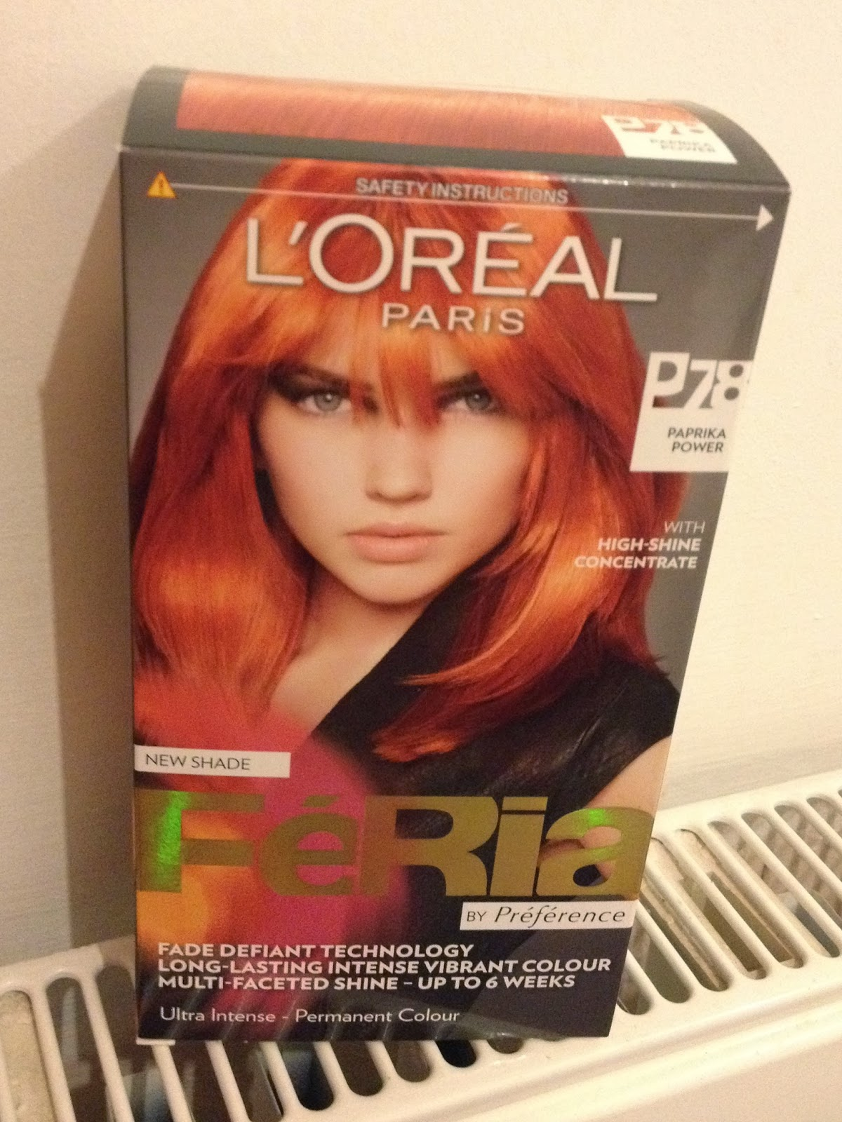 Loreal Feria Hair Color Shades Red The shade is #p78 also known