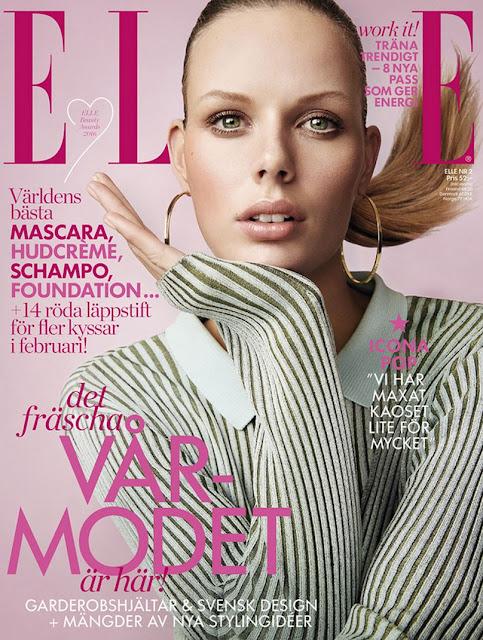 Fashion Model, @ Marlijn Hoek by Frida Marklund for Elle Sweden, February 2016