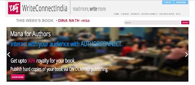 A screenshot of WriteConnetIndia