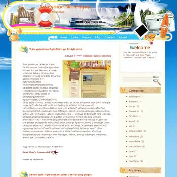 Awesome Nicaragua Blogger Template. free download template blogger
