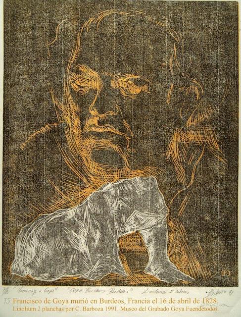 Francisco de Goya murió en Burdeos. Francia el 16 de abril 1828