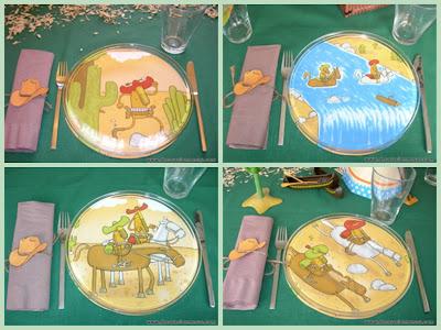 decoracion mesa cumpleaños vaqueros platos