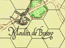 The Moulin de Bussy also appear on the map