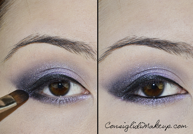 Tutorial Make up viola e lilla