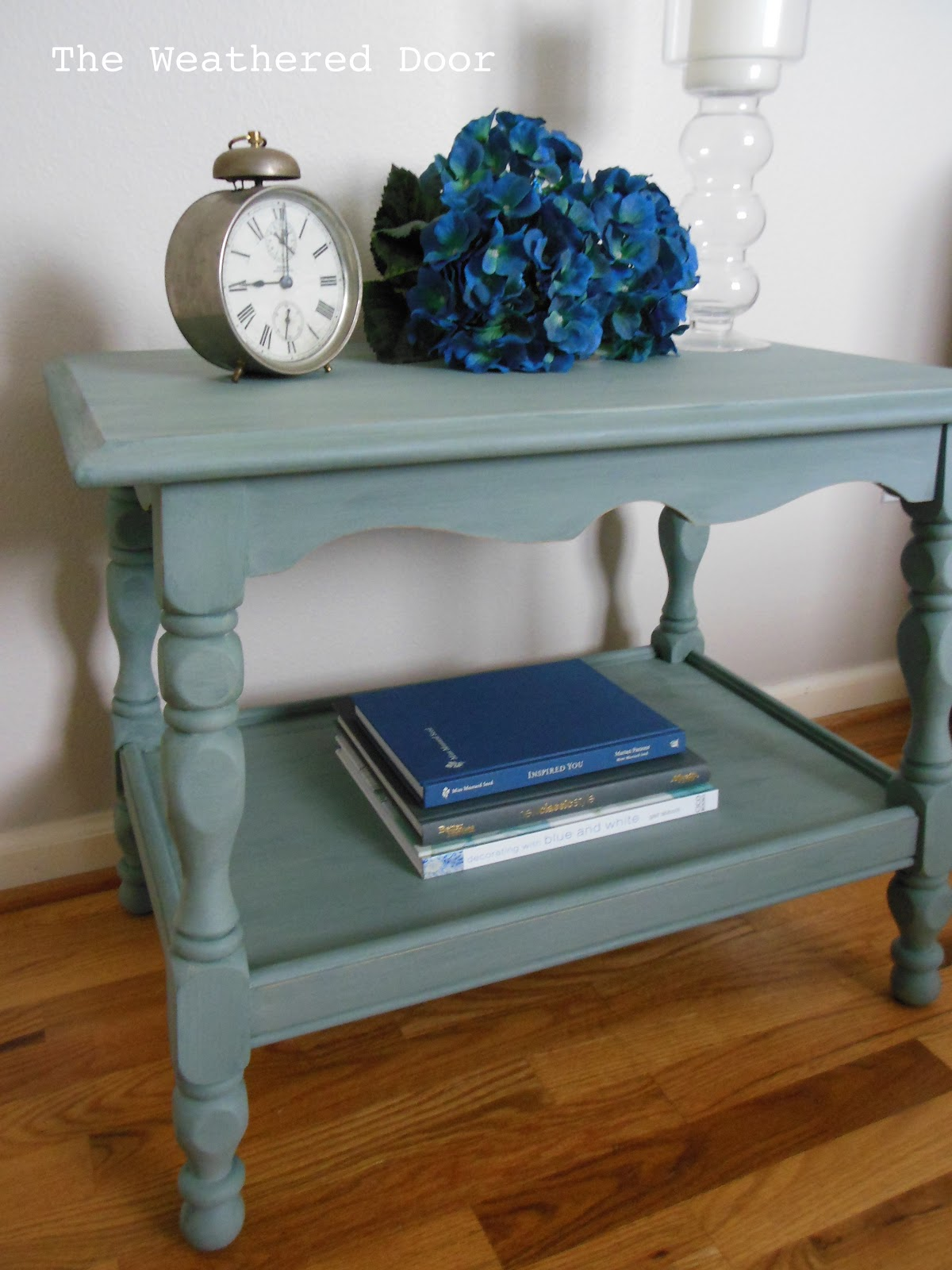 Sea Green Side Table The Weathered Door - Old fashioned side table
