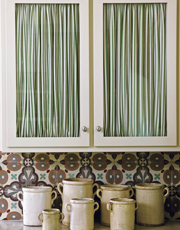 Rowley company cabinet curtains - Curtain for kitchen door ...