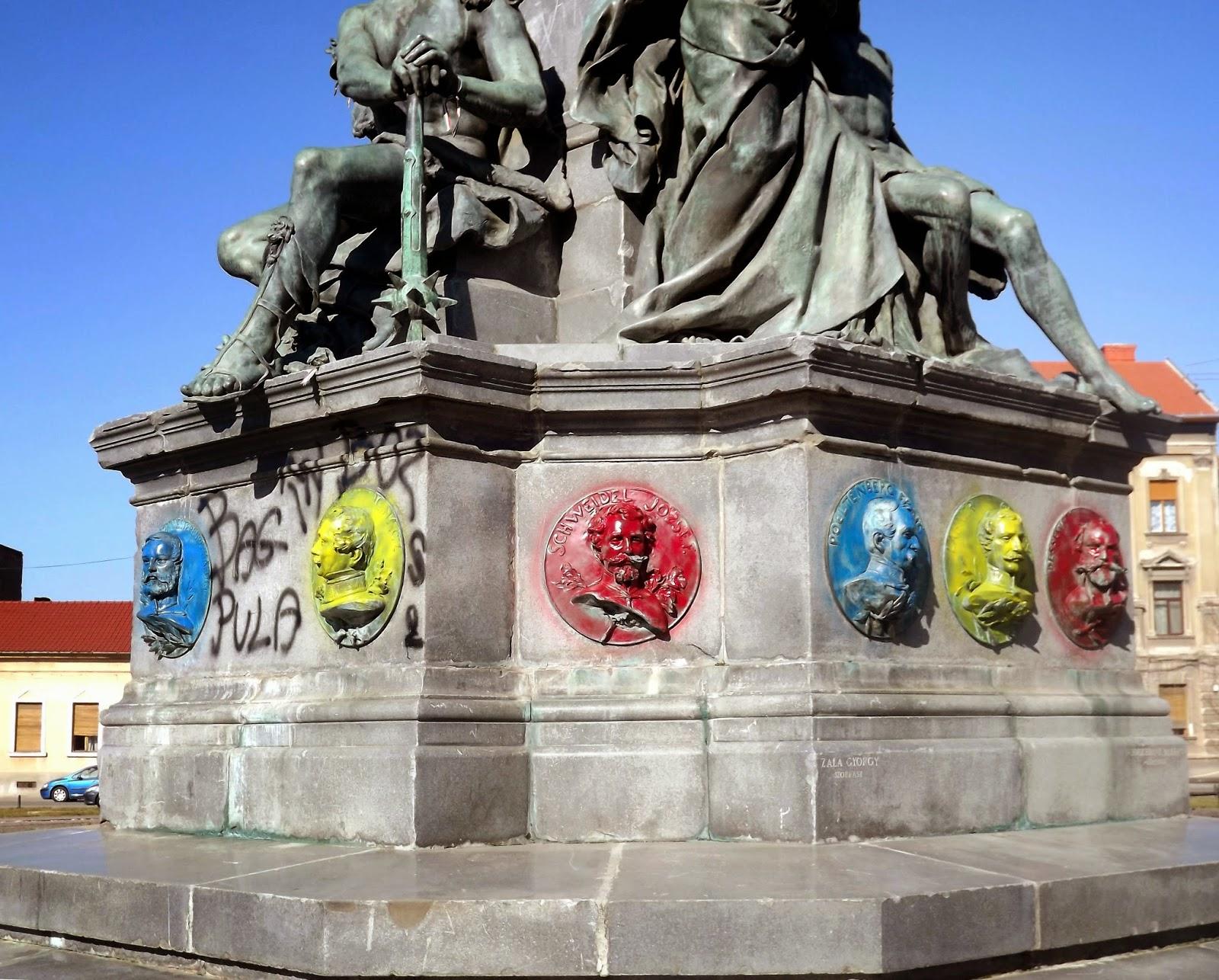 Arad, aradi tizenhármak, aradi vértanúk, emlékműgyalázás, magyarság, Szabadság-szobor,