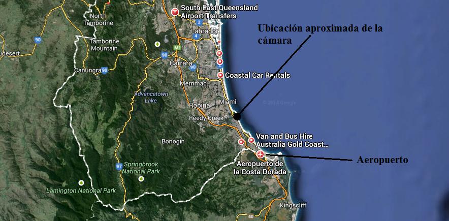 mapa playa australiana