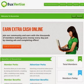 Get Paid To Click with Buxvertise