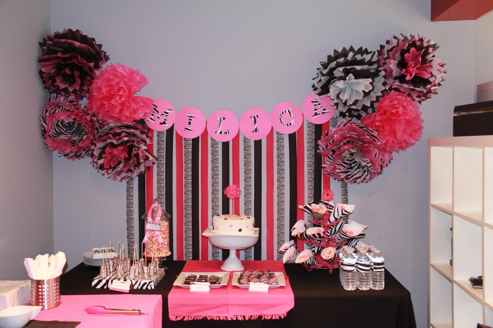 THREElittleBIRDS Events: Hot Pink and Zebra Print Party