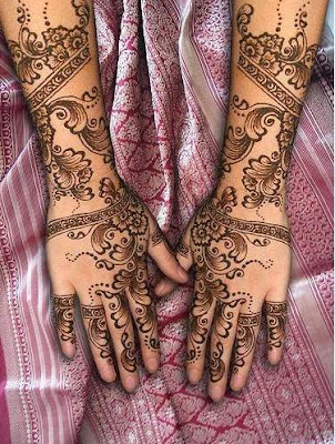 FLOWER DESIGNS FOR MEHANDI