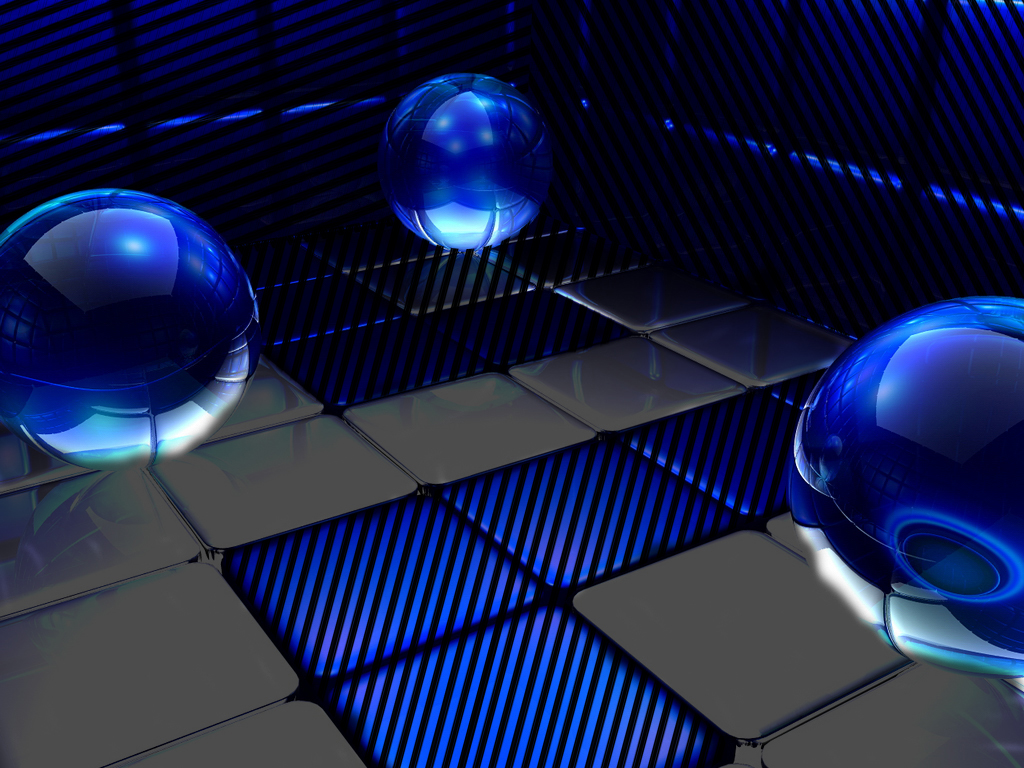 3D Glass Balls Reflection HD Desktop Wallpapers| HD ...