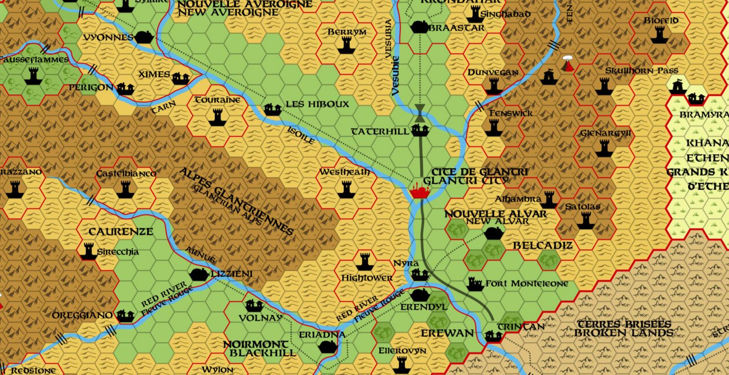 Glantri Hex Map