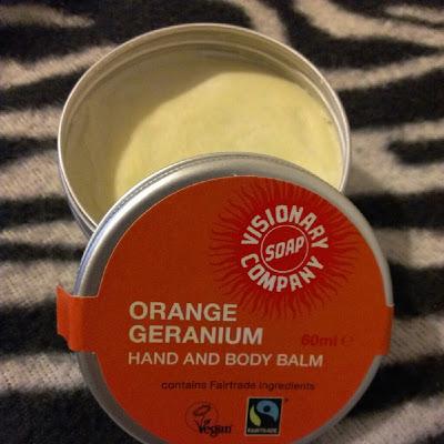 Orange Geranium Hand and Body Balm Visionary Soap Review