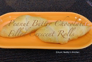 ... Spice and Spilled Milk: Peanut Butter Chocolate Filled Crescent Rolls