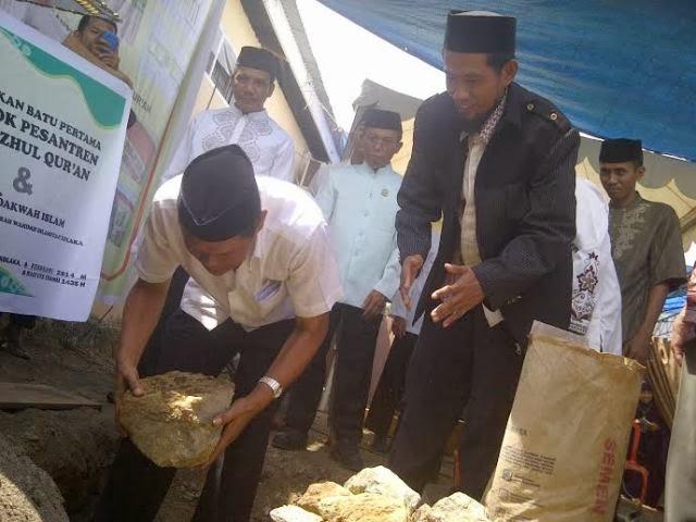 Pelatakan Batu Pertama Ponpes Tahfizhul Qur'an dan Pusat Dakwah Islam