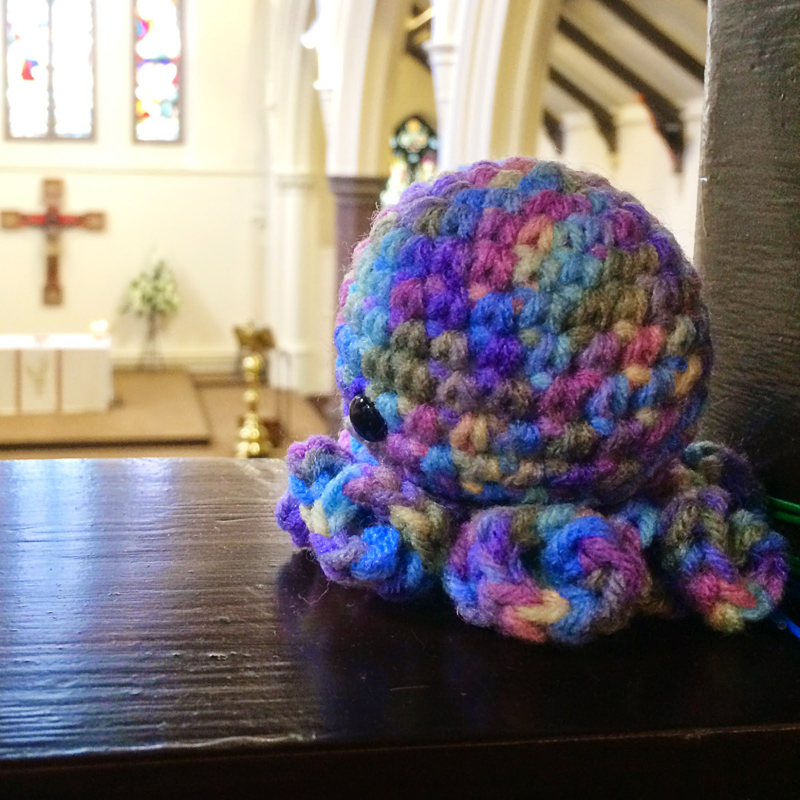 octopus amigurumi at church