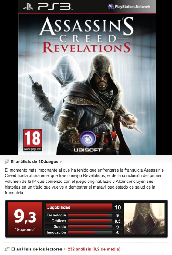 Assassin´s Creed: Revelations [PS3][CFW3.55][TB][Multi]