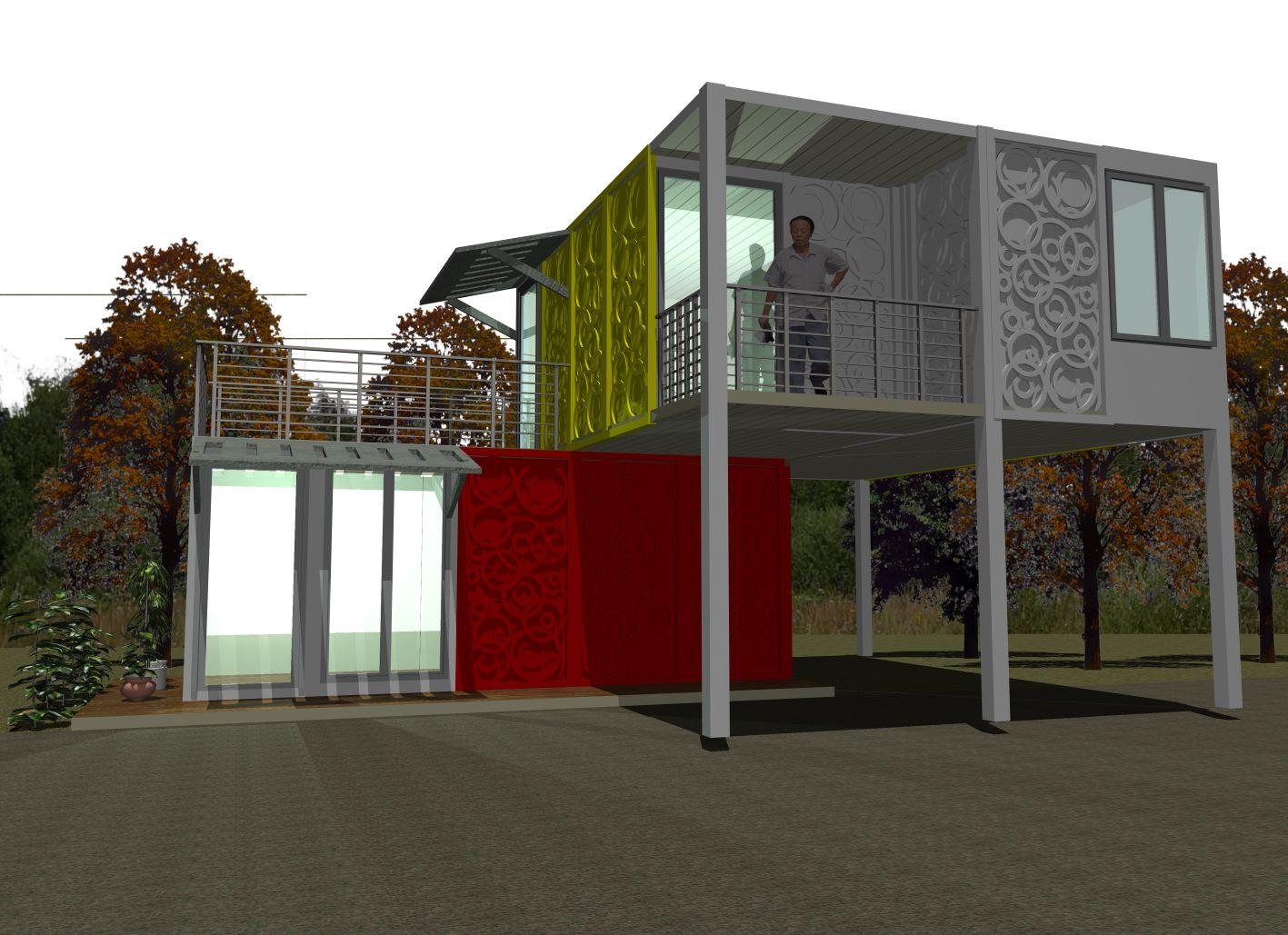 1000 images about casas hechas con contenedores on pinterest - Casa hecha de contenedores ...