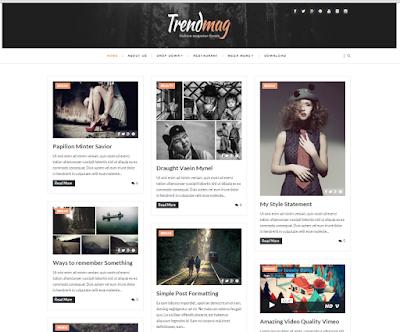 trendmag responsive blogger template