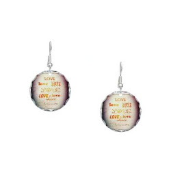 LOVE X 7 Earring Circle Charm