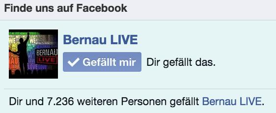 Bernau LIVE bei Facebook