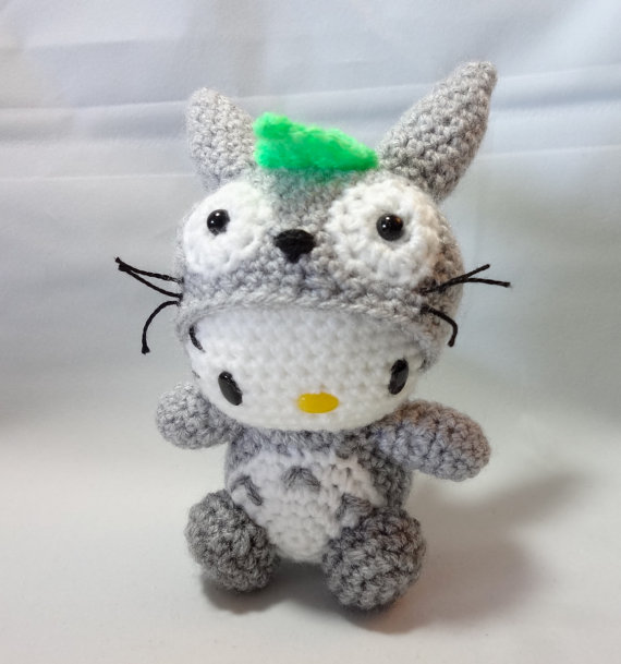 Choose happiness making totoros more crochet patterns this is hello kitty in a totoro costume still very cute i found this on etsybut i think you have to buy the pattern dt1010fo