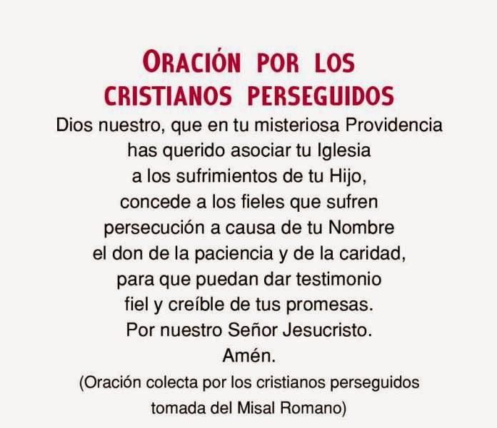 Oración por Iglesia Católica