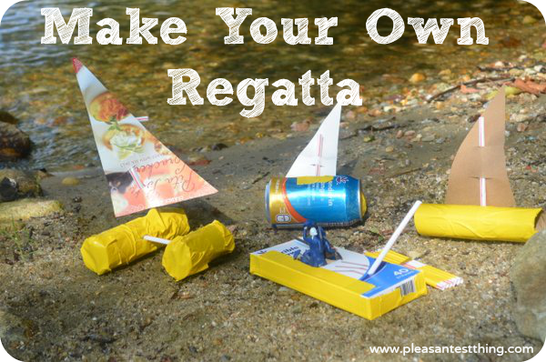 Make your own boat from cardboard tubes and cans