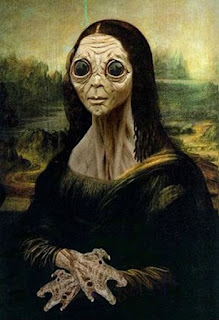alien mona lisa