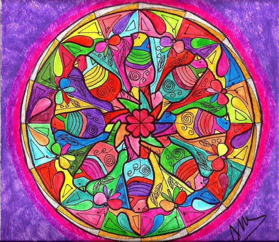 Adriana Azzolina Pinturas Mandala De Pajaros - Pinturas-de-mandalas