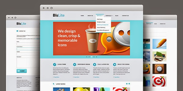 Free Business Website PSD Templates