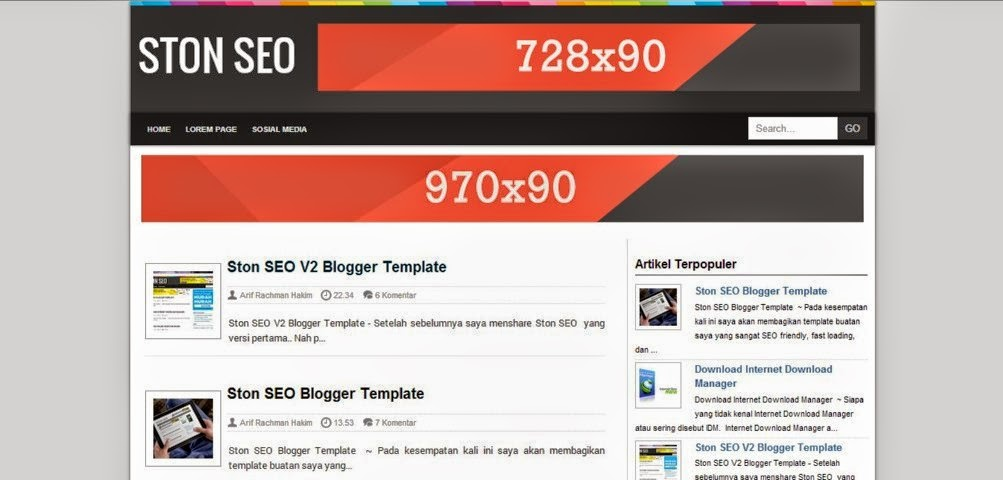Free Download Ston Seo V3 Responsive Blogger Template