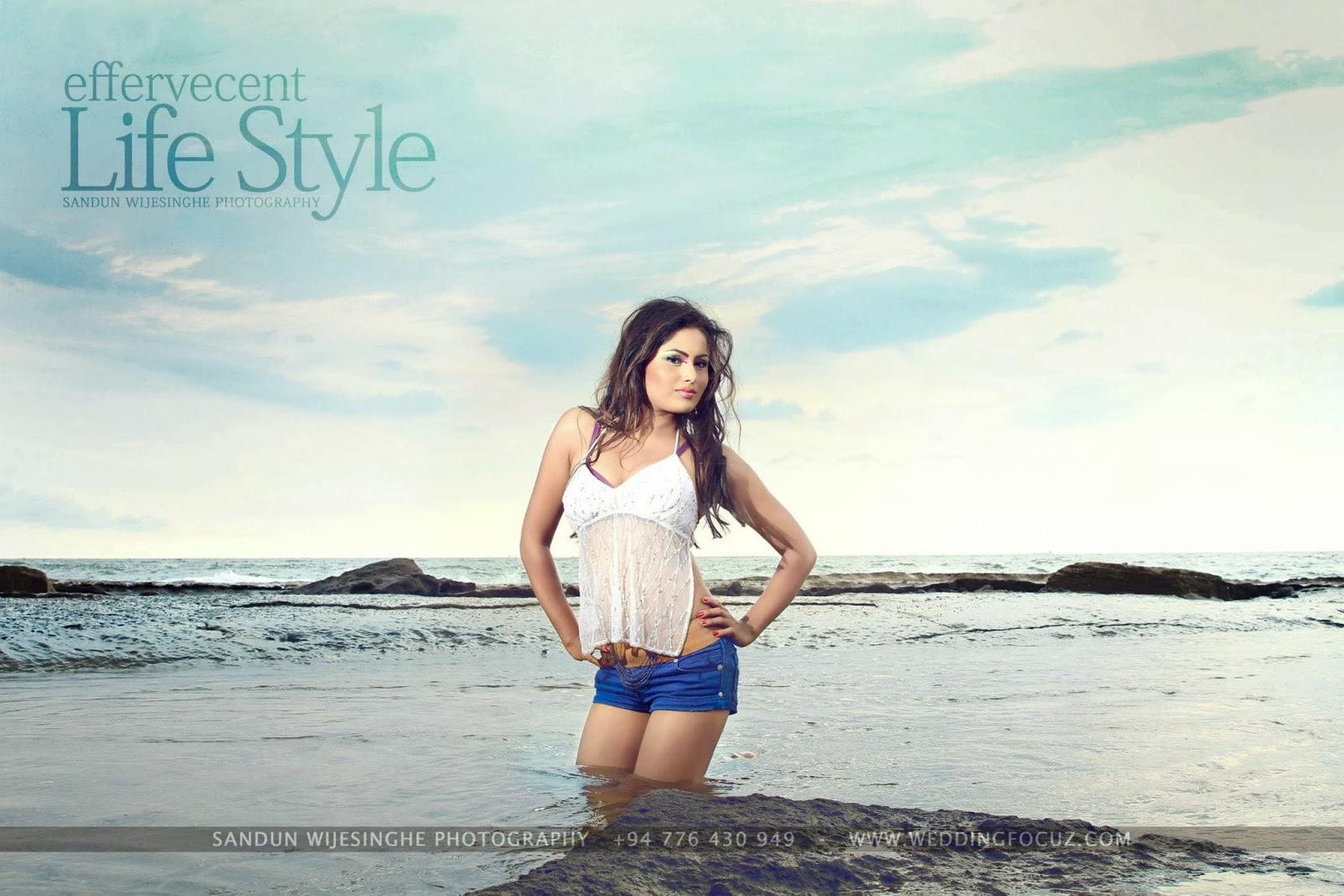 Kaushalya Udayangani blue shorts