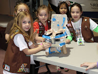 GSNC Invention Convention - Girl Scout Brownies Show Off the Chair They Created