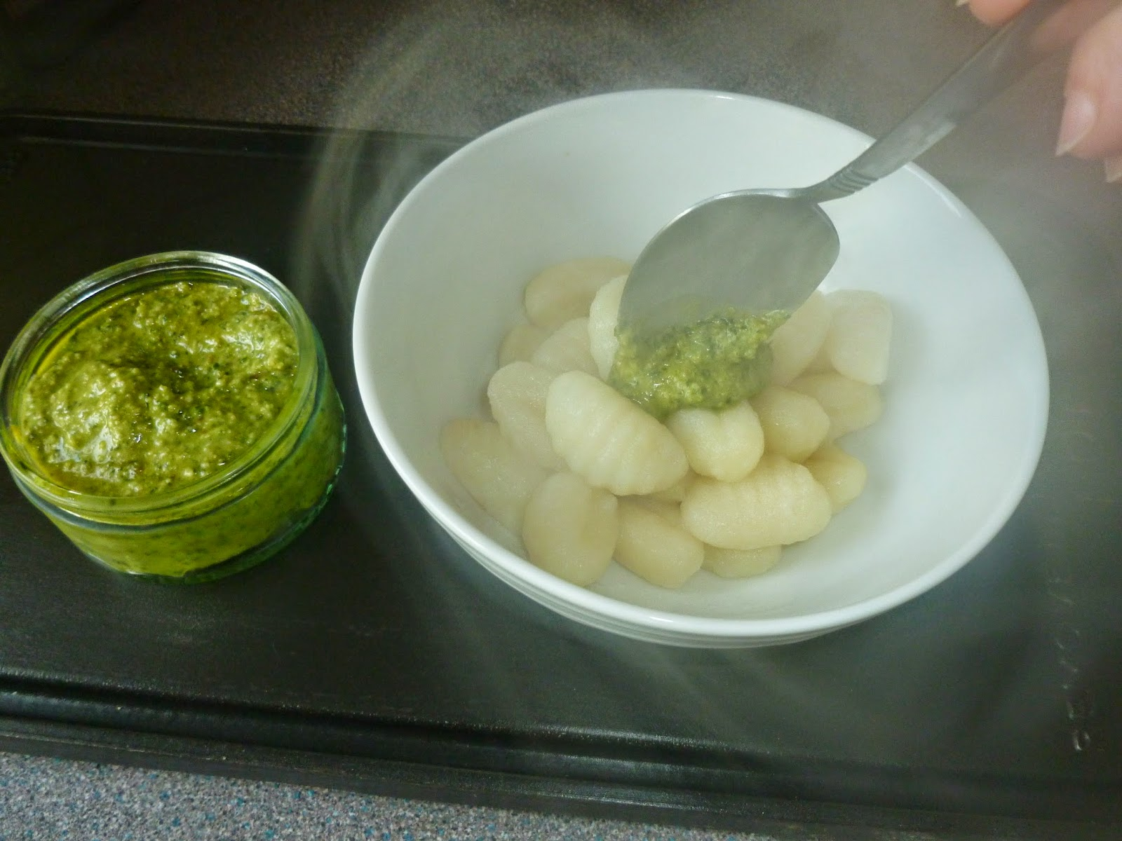 Bowl of Pesto and Gnocchi