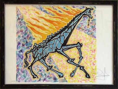 """Жираф в огне. Серия """"Витражи"""""""