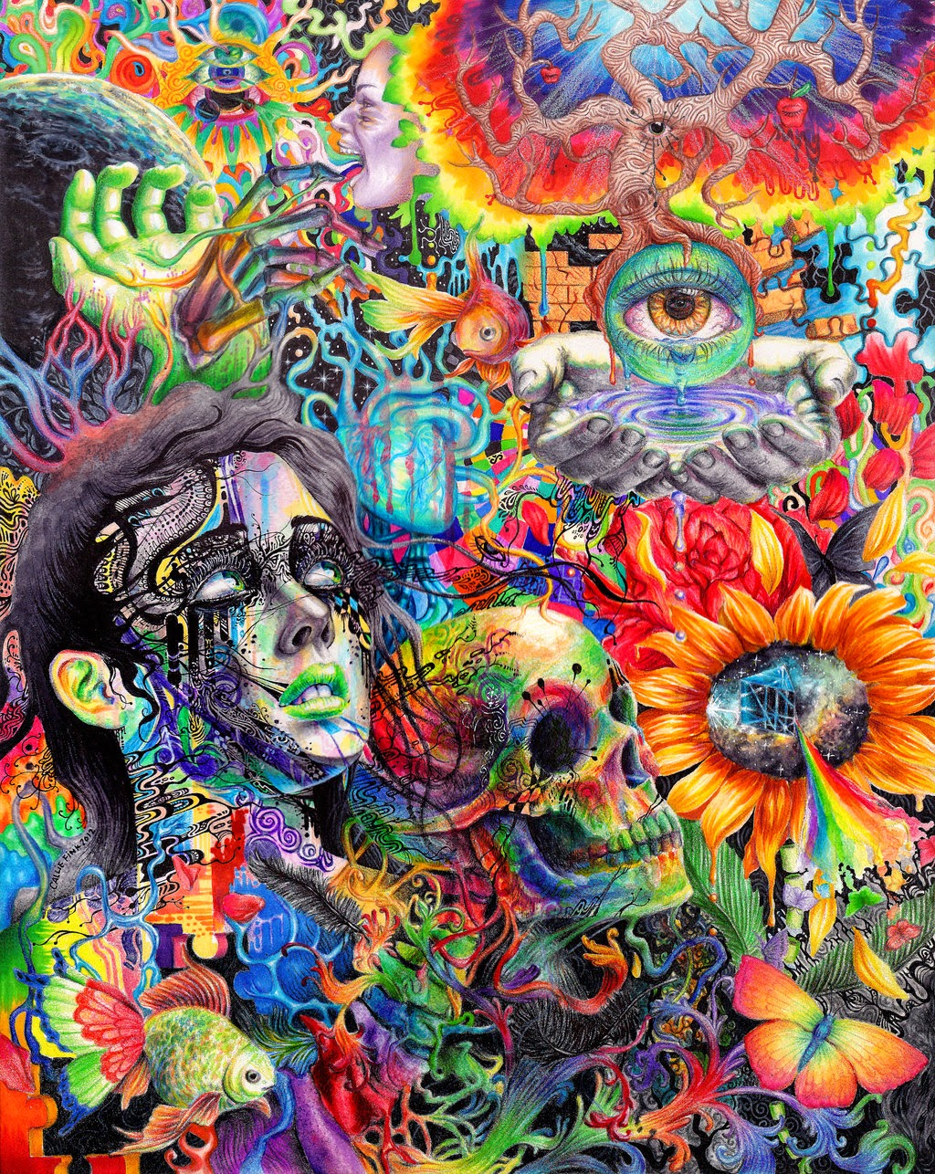 lsd hallucinations wallpaper 64802 imgflash