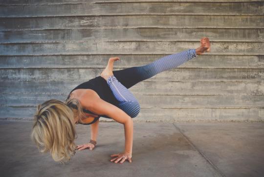 High fitness level yoga pose