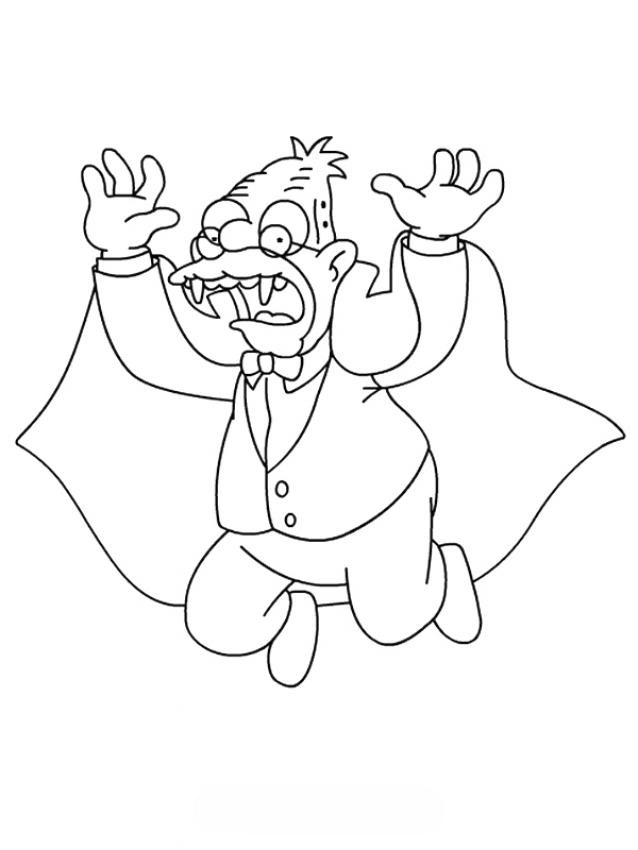 Coloring Pages Blood : Vampire coloring pages human blood sucking