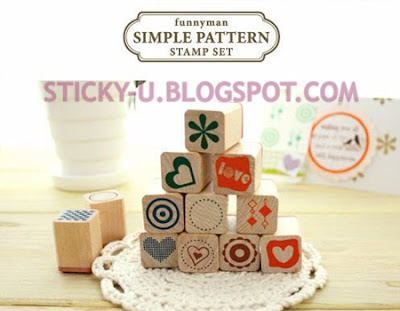 012: Funnyman's Simple Pattern Stamp Set