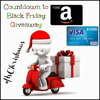 Enter the Countdown to Black Friday Giveaway. Ends 11/29.